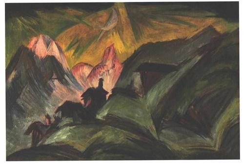 Stafelalp at Moon Light - Ernst Ludwig Kirchner