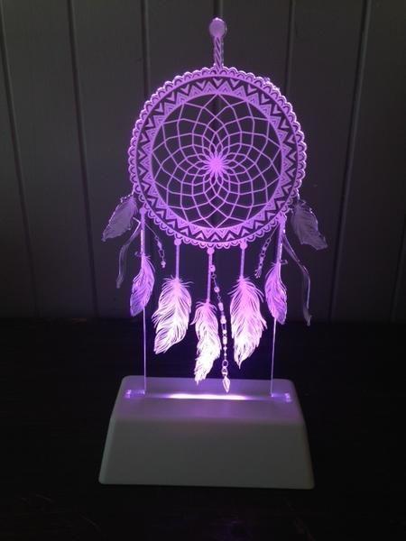 DreamCatcher Night Light #kidsroom #dreamcatcher #dreams #nightlight #lamp