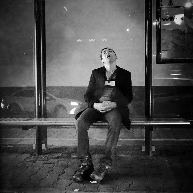 End of the day - Bus stop - Istanbul