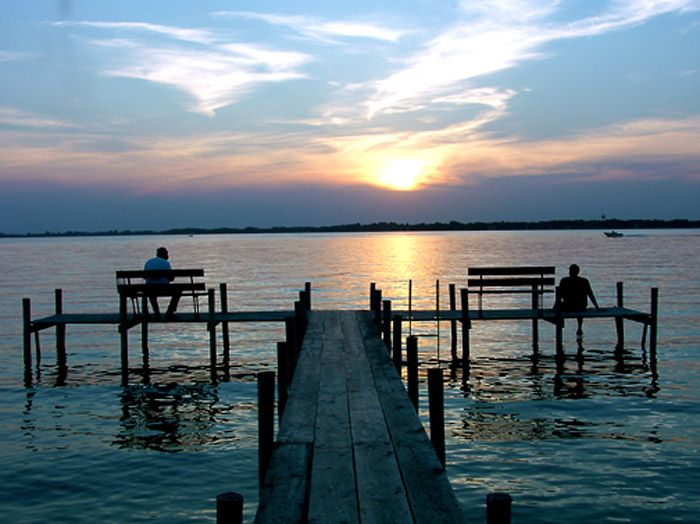 Clear Lake Sunset Iowa Arno Almo Olson S Cottage Aunt