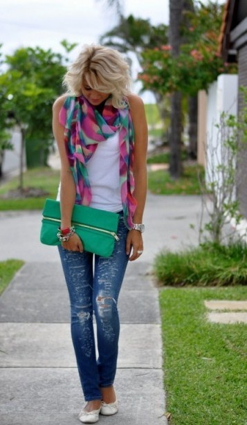 Love these colors together: Summer Scarves, Dreams Closet, Summer Looks, Summer Day, Summer Outfit, Cute Scarfs, Color Scarves, Color Scarfs, Cute Outfit