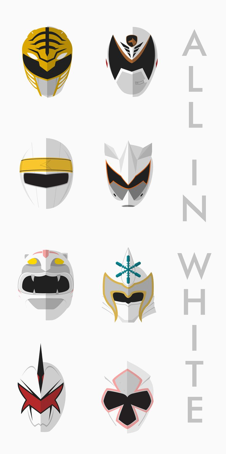 All White Rangers - Power Rangers