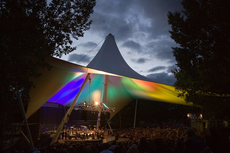 The Edmonton Symphony Orchestra performs at the Heritage Amphitheatre in Hawrelak Park in Edmonton's river valley every September long weekend.