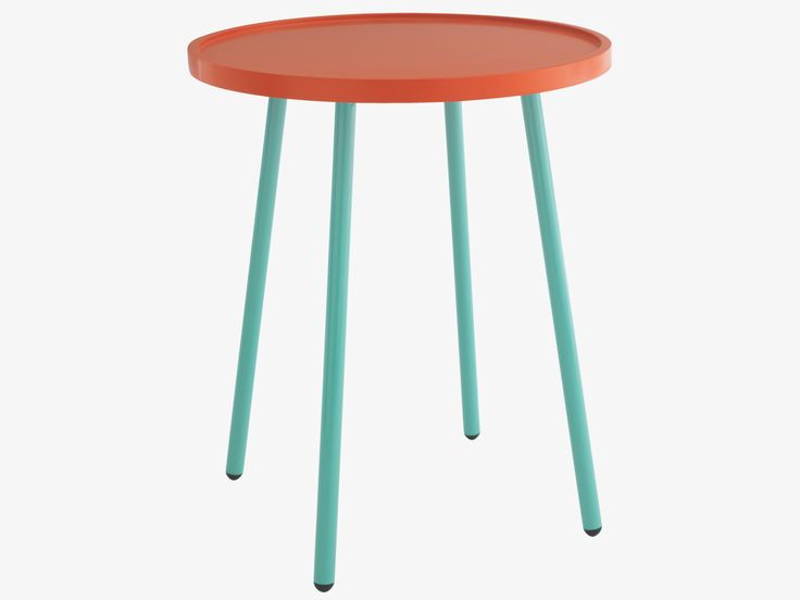 NIVEN ORANGE Lacquered Red side table - HabitatUK