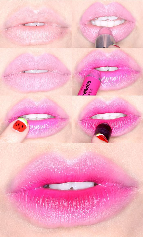 Sabe aqueles lábios volumosos ou com vários tons de cores? Clique e veja como fazer o efeito 3D nos lábios.