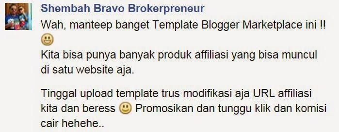 """Pendapat Yusuf """"shembah Bravo Brokerprener"""" tentang template marketplace indoim"""