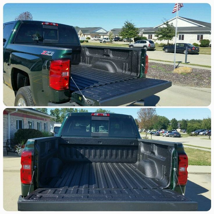 Pickups Plus Springfield sprayed this 2015 Chevy Trucks with an #armadillo spray on bedliner.  At Pickups Plus Springfield we spray bedliners everyday. Visit us at 3941 Pintail Dr, Springfield to see samples of our work and schedule your spray on bedliner appointment. #springfieldIL #sprayonbedliner #smallbusiness