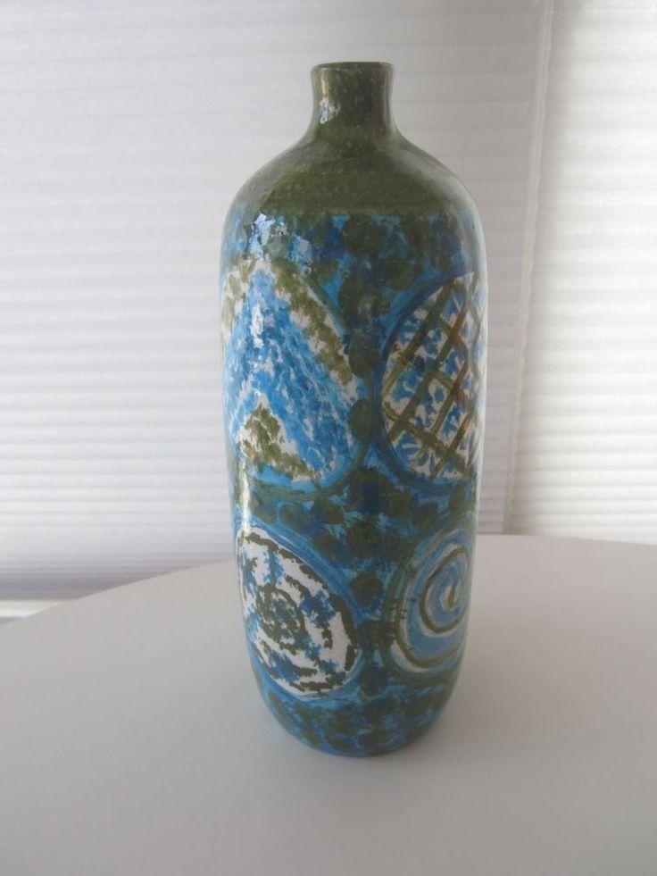Rare vintage mid-century era Raymor ARN 1311-B italian pottery vase..Bitossi era