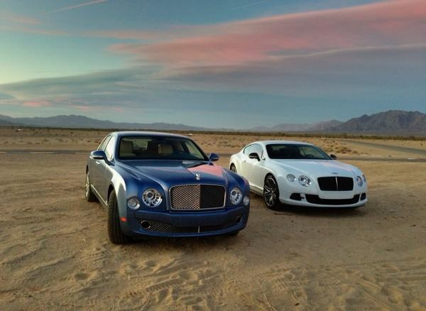 Bentley Mulsanne and Bentley Continental GT Speed - sunset shot