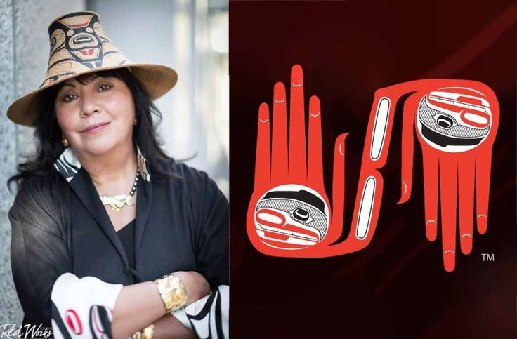 """The Haida are in harmony with nature and we believe the hands are connected to the mind and heart,"" explains Dorothy Grant"