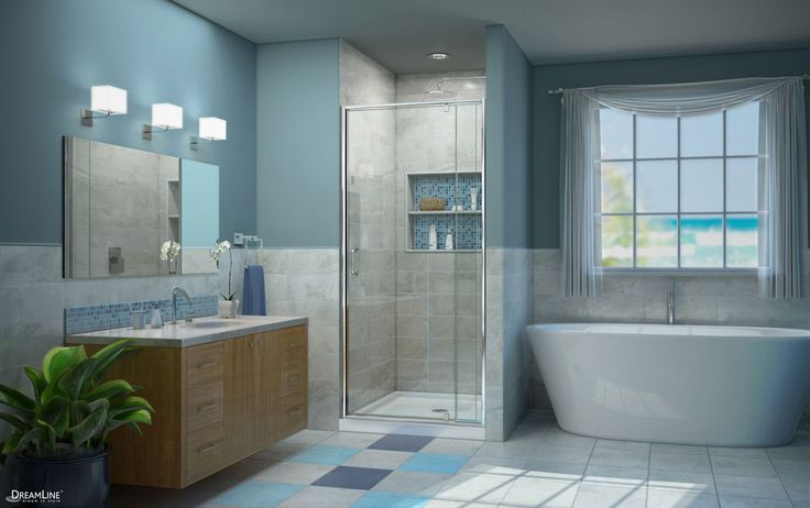 Whether you prefer modern, classic or a rustic look DreamLine Shower Doors can fulfill all of your desires. On SALE NOW at HOME DEPOT.