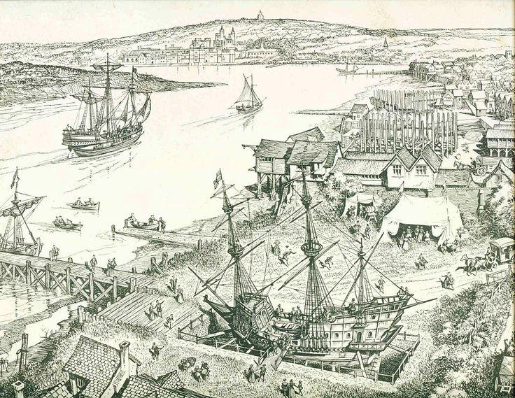 Golden Hind in Deptford, 1581