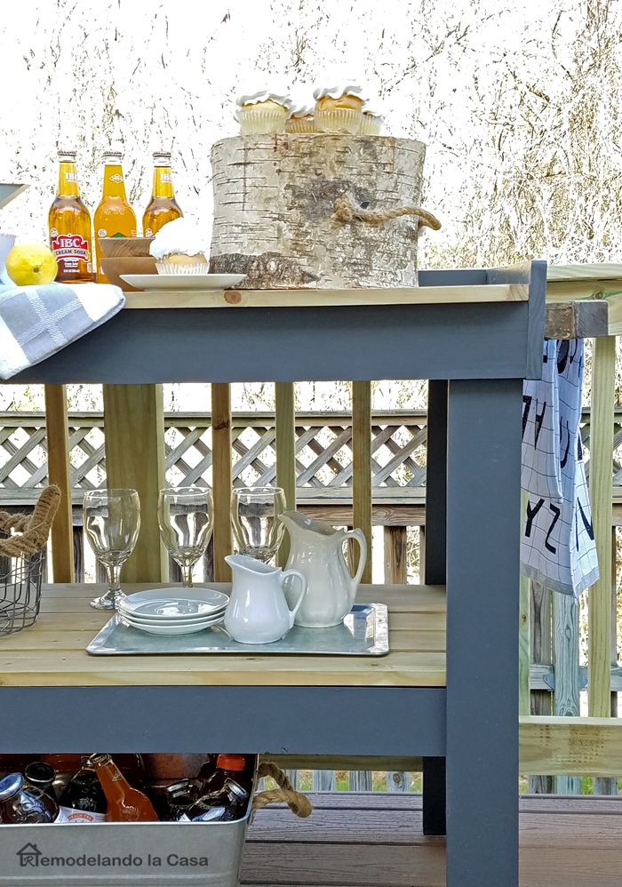 LOVE it! Easy to build outdoor serving cart.