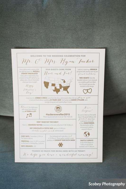 Modern Wedding Program Design