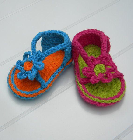Baby Strapey Sandal Crochet Pattern.Immediate PDF por smeckybits