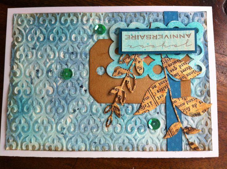 Mix-media card with Simply Graphic stamps and dies