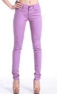 Women Casual Pencil Trousers women Pants Slim Stretch Colors Jeans