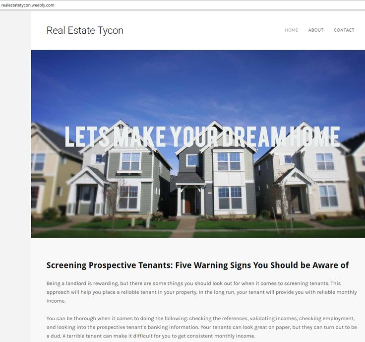 Being a landlord is rewarding, but there are some things you should look out for when it comes to screening tenants. This approach will help you place a reliable tenant in your property. http://realestatetycon.weebly.com/