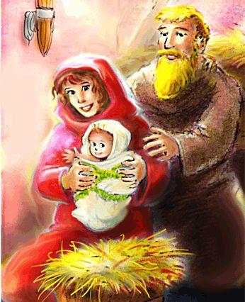 HET KERSTKINDJE ***** Online voorgelezen prentenboek. Jozef en Maria reizen door de koude nacht. Maria heeft een dikke buik. Daar zit een piepklein kindje in. O hemel, in de drukke stad zijn alle herbergen vol. En elke minuut kan het kindje geboren worden!