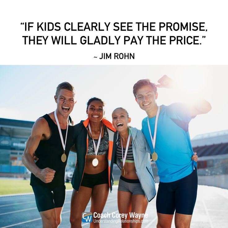 """#jimrohn #kids #workethic #promise #future #potential #rewards #hardwork #commitment #determination #winning #achievement #goals #dreams #success #coachcoreywayne #greatquotes Photo by iStock.com/jacoblund """"If kids clearly see the promise, they will gladly pay the price."""" ~ Jim Rohn"""