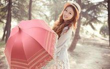 2014 nieuwe kant paraplu voor vrouwen drie gevouwen prinses edele stijl zon en regen sterk zonbestendinge geen verzendkosten geen verzendkosten(China (Mainland))