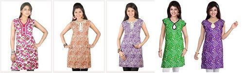 6 Cotton Kurti @ Rs.745/- (Rs.124 each) @ Homeshop18