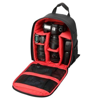 Waterproof Nylon Digital DSLR Camera Bag Backpack with Customizable Interior for GoPro Hero 1/2/3/3+/4/4 Session -