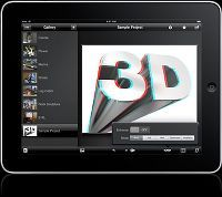 3D CAMERA STUDIO APP FOR IPAD  Apple recently approved Juicy Bits Software's3D Camera Studio appfor the iPad. Based on the popular 3D Camera iPhoneapp, it has been completely redesigned to take advantage of the larger iPad screen.