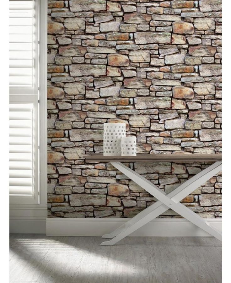 This fantastic Cornish Stone Wallpaper will add a stylish and contemporary finishing touch to any room. The high quality wallpaper recreates the look of a dry stone wall in natural tones of brown, with realistic detailing and shading to add to the effect.