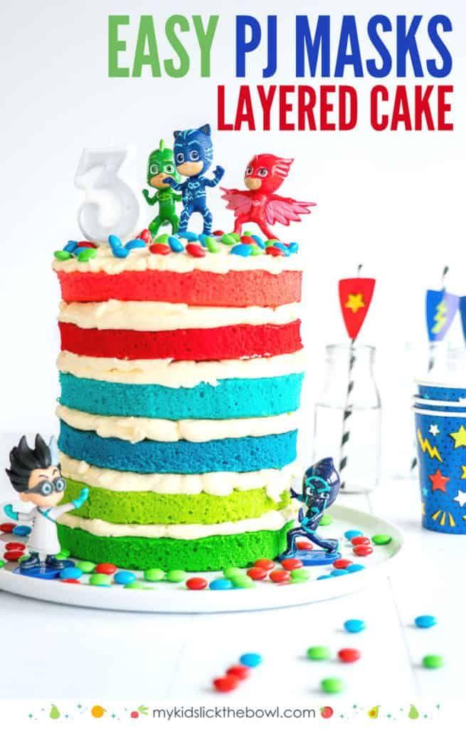 Phenomenal Pj Masks Cake Recipe Little Girl Birthday Cakes Boy Birthday Personalised Birthday Cards Veneteletsinfo
