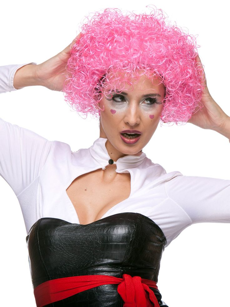 This Circus Circus wig could also be called curly curly. It's short, curly and it comes in 11 bright colors. #circus #curly #wig #costume #halloween