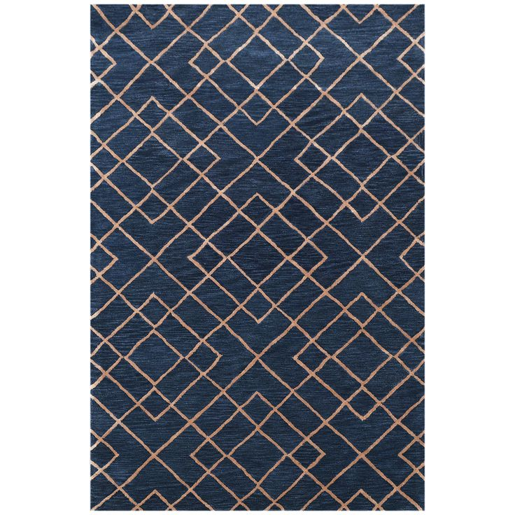 Great Bakero Highway Hand Tufted Dark Blue Area Rug U0026 Reviews | Wayfair.co.
