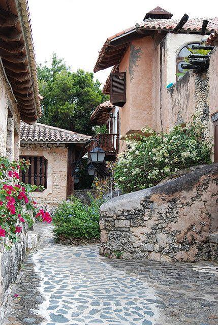 Mediterranean village replica in Altos de Chavón, Dominican Republic
