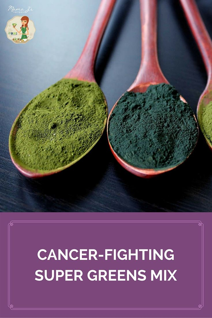 This amazing cancer-fighting super greens mix is packed with immune-boosting nutrients! #healthyrecipes #superfoods