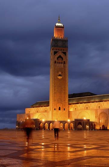 Hassan Ii Mosque In Casablanca Morocco Dark And Light