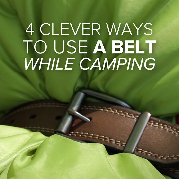 4 Clever Ways To Use A Belt While Camping // #camping #outdoors #Niffty #diy #campinghacks