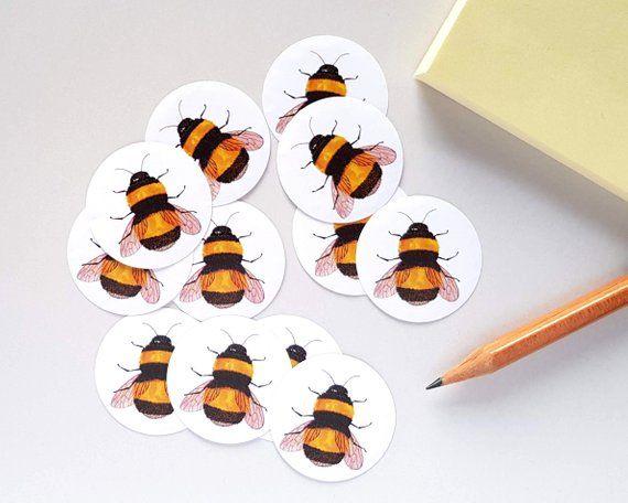 Bumblebee Bee Insect Scrapbook Stickers
