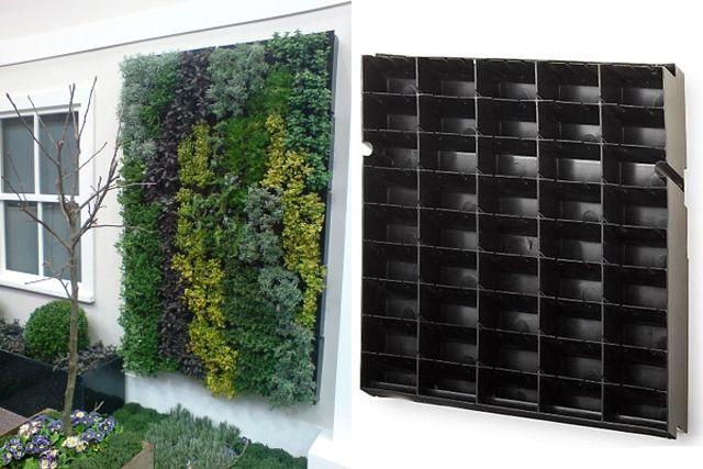 22 best images about jardines para la terraza on pinterest for Estructura jardin vertical