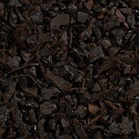 Rubber mulch by Pinnacle. Made from recycled tires, fade-resistant, never needs replacing!