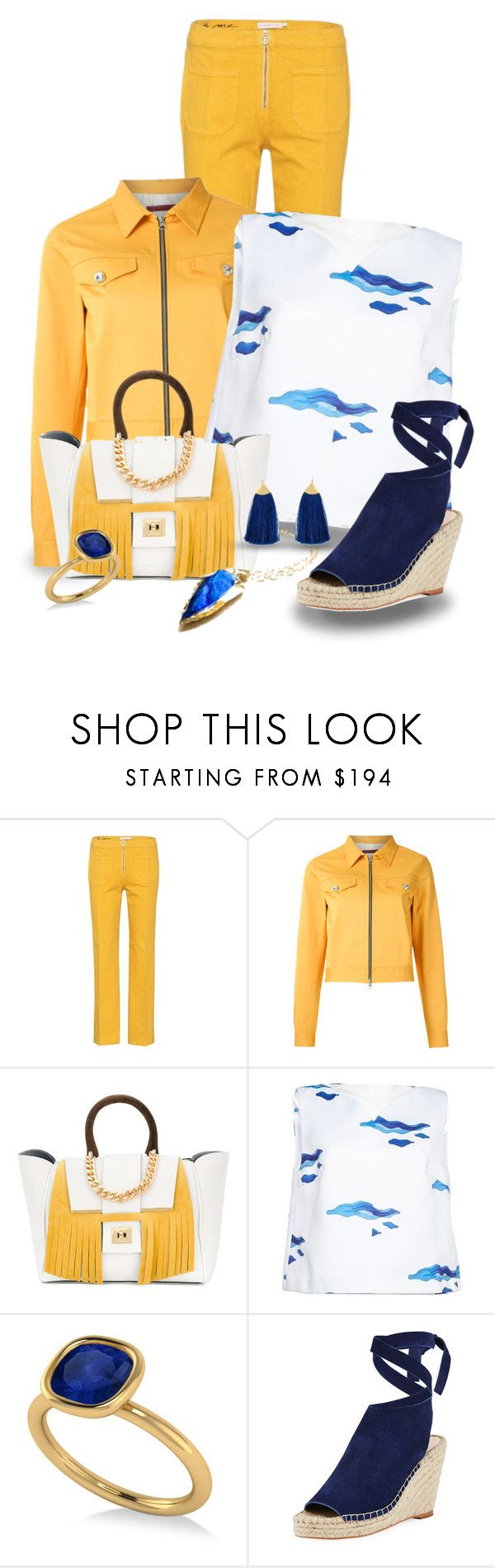 """""""Spring is in the Air (Looking to Summer #8)"""" by funnfiber ❤ liked on Polyvore featuring Tory Burch, À La Garçonne, Alila, Osman, Allurez and Loeffler Randall"""
