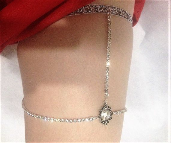 SWAROVSKI Thigh Chain crystal leg chain by RhinestonesDesign