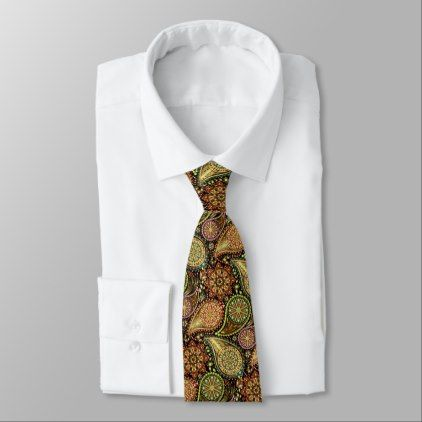 New Years Eve Party Fireworks Paisley Pattern Neck Tie - #chic gifts diy elegant gift ideas personalize