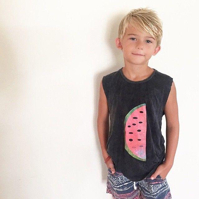 Cute kids clothing/fashion / casual tank singlet/ watermelon print / beach surf street summer style / Tevita clothing