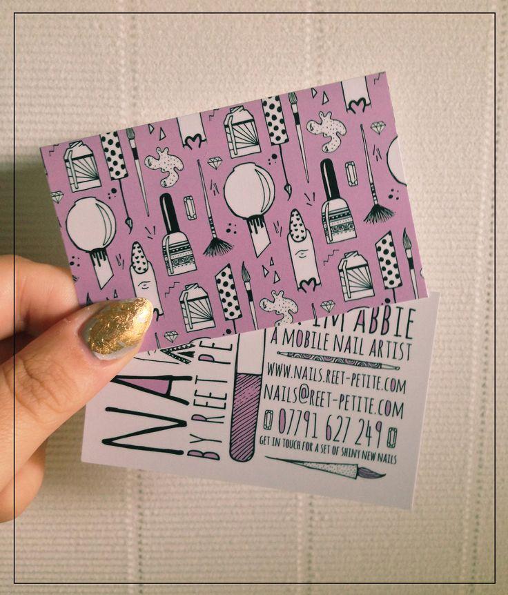 nail tech business cards nails Pinterest