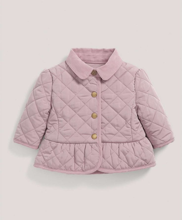 Dusky Pink Padded Jacket - All Girls - Mamas & Papas