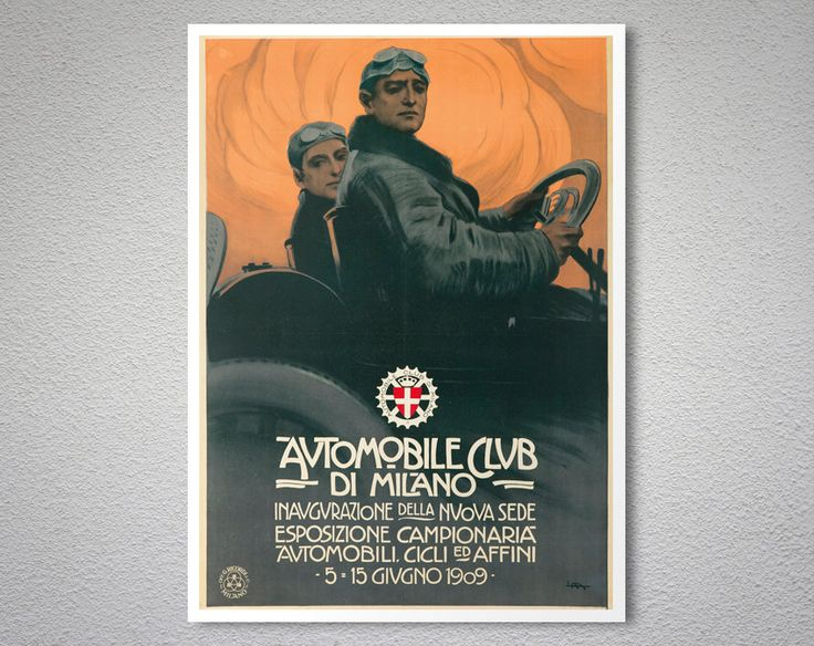 Automobile Club di Milano Vintage Grand Prix Poster,  1909