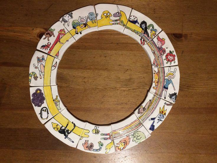 Adventure time ceramic clock decoration