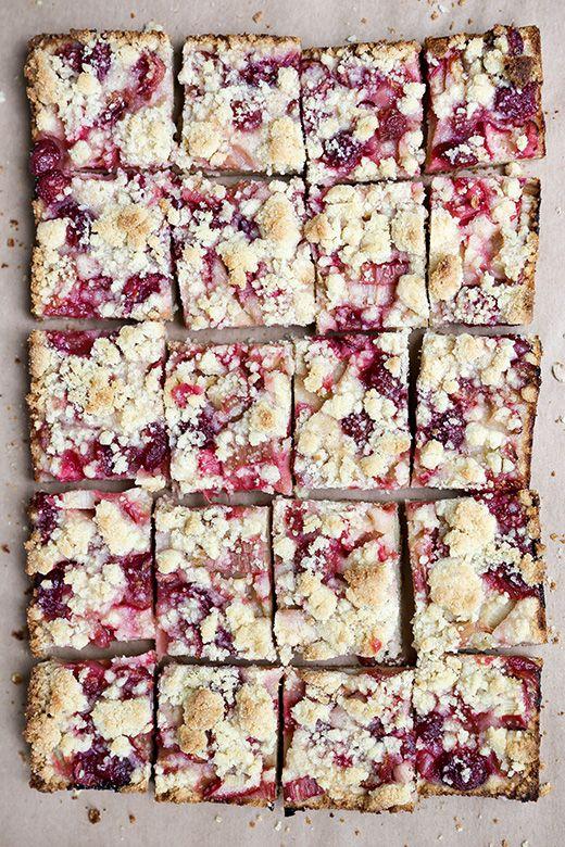 Cherry-Rhubarb Pie Bars   www.floatingkitchen.net