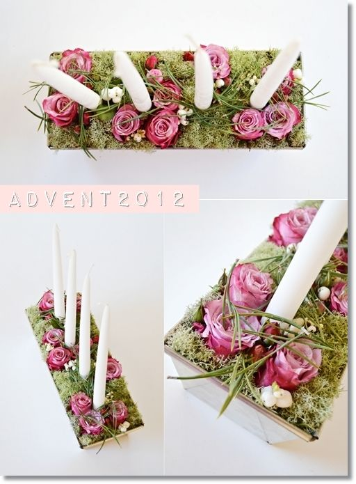 adventsljusstake blommor, annorlunda adventssljusstake, modern adventsljusstake, adventsljusstake rosor, advent candles flowers, trendy advents candles, advent candles roses