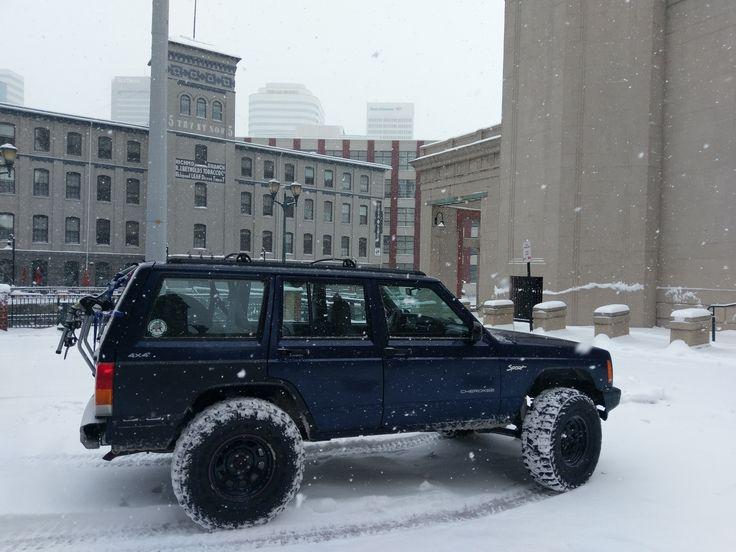 Finally I can add my Jeep in the snow!! East Coast Storm! #jeep #jeeplife #Wrangler #jeeps #Cherokee #JeepMafia #offroad #4x4